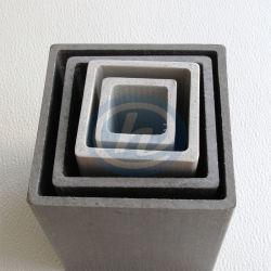 Pultruded Tubos huecos de Fibra de Vidrio compuesto de FRP Plaza tubo rectangular de plástico