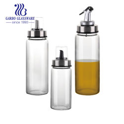卸し売り台所ホウケイ酸塩ガラスオイルのCruet 500mlオイルディスペンサーのガラスオリーブ油の鍋(GB600240325C)