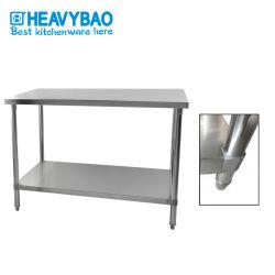 Heavybao، معمل تحميض، مطبخ 2 من الدرجة من الفولاذ المقاوم للصدأ، أعمال أنبوب دائري الطاولة بعرض 700 مم