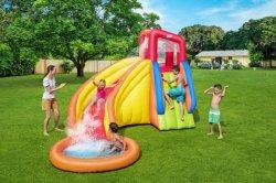 3.66*3,37*2.41m infláveis Residencial escorregas de água piscina para crianças