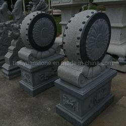 معبد باب المعمار الصينى القديم بوابة الفناء ذات الطبل الكبير نحت الحجر الحجري المحمل على شكل حرف
