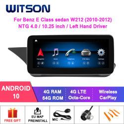 Witson Android 10+644G G Sistema de Car Audio Multimedia para Mercedes-Benz Clase E BERLINA W212 Ntg4.0/4.5/5.0 WiFi GPS Bluetooth radio del vehículo
