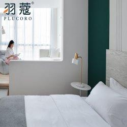 Hochwertige 4 Stück 100% ägyptische Baumwolle 400tc White Hotel Leinenbettwäsche