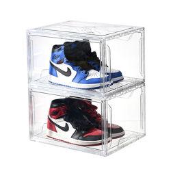 Прозрачный чехол для хранения на заказ для прозрачного магазина с магнитом Пластиковый контейнер для обуви из акрилового акрила