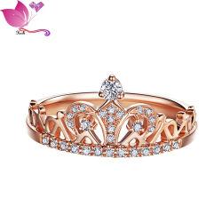 2021 مجوهرات جديدة خاتم وصول المرأة الذهب Plated CZ الماس حلق مجوهرات زركونيا المكعبة