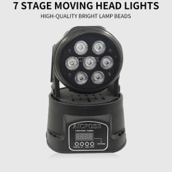 Mini indicatore luminoso chiaro capo mobile della fase della strumentazione della discoteca del LED