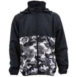 Bas prix OEM Nouveau design personnalisé de style militaire Soft Shell Poids léger noir manteau d'hiver du brise-vent et une veste avec le capot de la mode hommes étanche