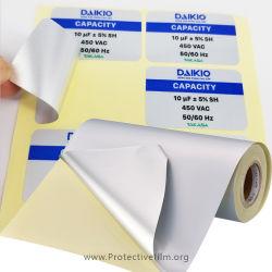 Матовый серебристый мембрану на наклейке печати пленка Самоклеящийся материал Pringting