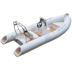زورق مطاطي منخفض من الألومنيوم الملحوم زورق مطاطي لبيع مطاطي صلب قارب