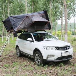 Très populaire tente de toit rigide en toile repliable facile à installer Tente sur le toit de la voiture de camping extérieure