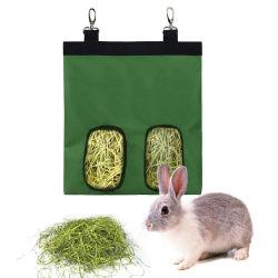Etanche 600D Oxford pendaison Chinchilla Hamsters de stockage de petits animaux lapin Sac de foin d'alimentation