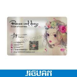 Scheda di nome trasparente stampata personalizzata dei biglietti da visita del PVC