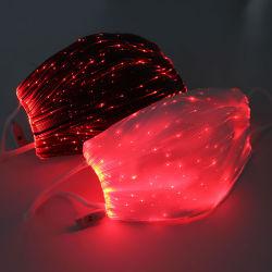 Het LEIDENE van Marycare Licht op Masker die van het Stof van het Masker van het Gezicht USB het Navulbare Gloeiende Lichtgevende voor het Festival van de Partij van Kerstmis ijlt de Kostuums van de Maskerade dansen