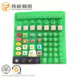 Soem-Silk Bildschirm-Drucken-Laser-Beschichtung-Noten-Tastaturblock-Plastiksilikon-Gummi-Tastaturblock