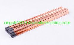 Arco de carbono del aire de la varilla de grafito Electroder ranurado / Varilla para soldadura
