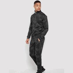 Camuflaje Chándal Impresión Zip de la mitad de los hombres de moda ropa sport vestir