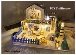 Muebles en miniatura DIY Dollhouse Casa Mini juguetes educativos regalo Regalo de Cumpleaños