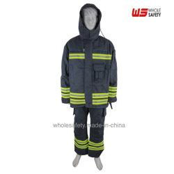 Résistance au feu ignifugé Pompier FR Veste de vêtements de protection, de pantalons costume avec une bande réfléchissante en vêtements de travail
