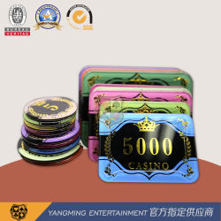 Fichas de Póker de Bronzing de Corona Cristal acrílico con Casino de trigo UV Fichas