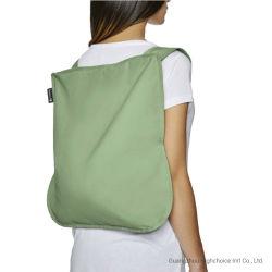 ترقية هدايا الطباعة المخصصة من BSCI LVMH وفقًا للمصنع والمعاد تدويرها حقيبة ظهر حقيبة قابلة للطي من القطن
