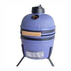 Sunlight 2021 Lifestyle 12,7inch Outdoor Kohle Camping Großhandel tragbar Mini Violet Kamado Glasierte Keramik BBQ Grill mit Standtisch Raucher