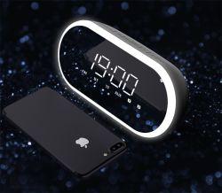 Heiße Art-Patent-Alarmuhr Bluetooth des Verkaufs-2019 neue drahtloser Lautsprecher kreativ mit LED-Bildschirmanzeige