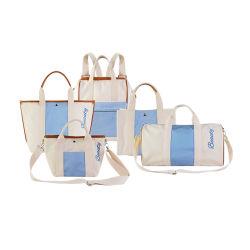 مصنع رخيصة بالجملة [شوبّينغ بغ] نساء نوع خيش حمل حقيبة يد مع [بو] شريط أسود أبيض حقيبة
