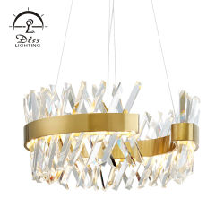 良質のイタリア贅沢なMuranoの鉄の円形の水晶LEDの軽いシャンデリア