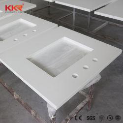 Cocina de tamaño personalizado piedra artificial de la vanidad de Cuarzo blanco Tops