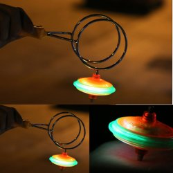 Magnetic Gyro Wheels Funny Flashing Light Spinning Toy leuchten