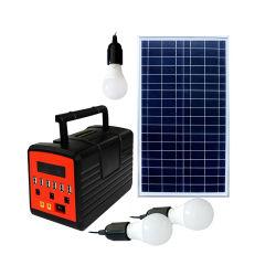 Kits d'éclairage solaire 10W avec 6 port USB du chargeur de téléphone