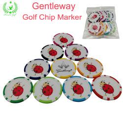 Gentleway Acessórios de Golfe Cartoon Art Customized Promoção Golfe Marcador do chip