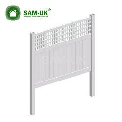 6' X 8' veranda Vinyl PVC Privacy Fencing met Ornamental Top Section