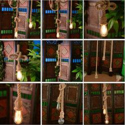 Конопля веревки лампы Vintage конопли лампы