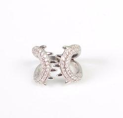 Jóias de forma Pata Anel Luxo 925 Sterling Silver jóias com diamantes Hip Hop