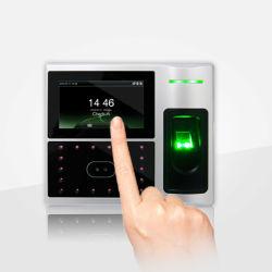 (Modelo FA1-H) La pantalla táctil el reconocimiento facial y huella dactilar tiempo asistencia y el sistema de control de acceso con batería de litio incorporada, la RFID tarjeta y la función WiFi/3G