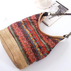 La Chine Bohemian Style tissu et de la paille de papier Mesdames les sacs à main