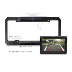 Wsu43 для США Wireless DIY солнечная энергия Car зеркала заднего номерного знака беспроводной парковочный датчик системы Автомобиль камера