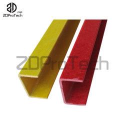 中国の工場製造者のPultrudedのガラス繊維の固体正方形のUチャンネルCの形のビーム