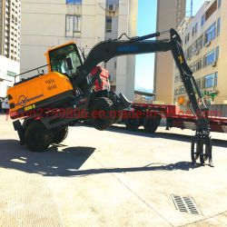 건설 장비 9톤 휠 굴삭기 미니 굴삭기 굴삭기 장비