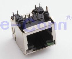 Rj 45 женщин 90° DIP-модульные разъемы печатной платы разъема кабеля разъем для мобильного телефона