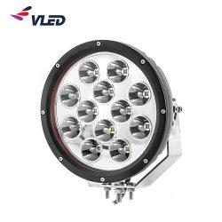 """新しい9 """" 120W LEDのヘッドライト円形4X4の自動車部品120W LEDのドライビング・ライト、点の洪水120W LED作業軽いボート"""