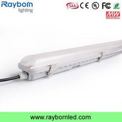 O sensor de microondas tecto PIR Prtoof tricolor luz LED 1200mm 50W 60W Luminária IP65