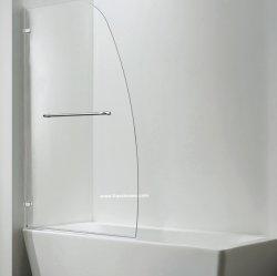 Dusche-Tür auf Bad-Wanne