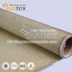 Le tissu de verre pour tuyaux haute température d'enrubannage le tissu de verre de protection de soudage rideau de feu de la vermiculite enduit des tissus en fibre de verre