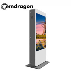 Atterrissage de l'écran Vertical Air-Cooled Pieu de charge de la machine de la publicité de plein air 65 pouces LCD Bluetooth ad de l'écran LCD à LED de signalisation numérique mur