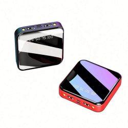 2021 bolso portátil Pack Moda Segurança Universal Mini Espelho 10000 mAh aparência elegante Mini Batterie USB Power Bank