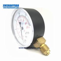 """2.5"""" discar a conexão inferior da caixa de aço Manômetro cheios de líquido 0-40bar 1/4Rosca NPT"""