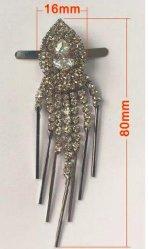 진주 다이아몬드를 가진 펀던트 사슬 버클, 단화 부대를 위한, 형식, 고품질