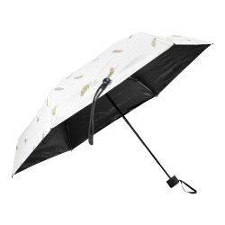 19 Polegadas Manual de Impressão Digital Abrir e Fechar Cinco Dom Umbrella para promoção de dobragem